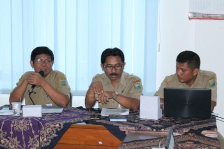 Kepala Dinas Perindag dalam acara Rakor POP Triwulan I