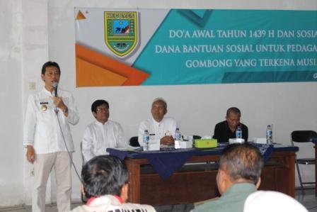 Bupati Hadiri Sosialisasi Penyaluran Dana Bansos Pasar Wonokriyo Gombong